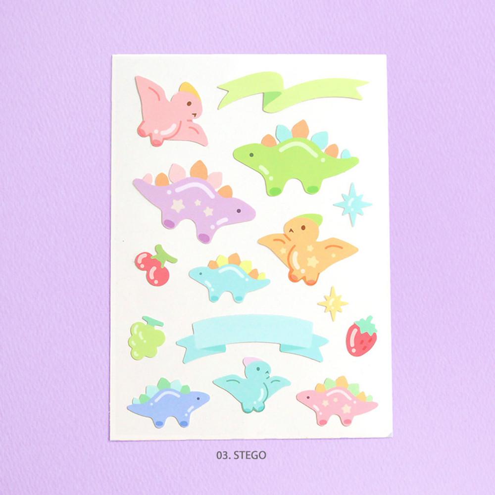 Stego - PLEPLE Bubble dino removable decorative paper sticker