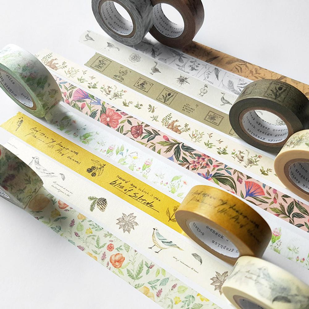 O-CHECK Vintage decorative craft 15mm X 10m masking tape