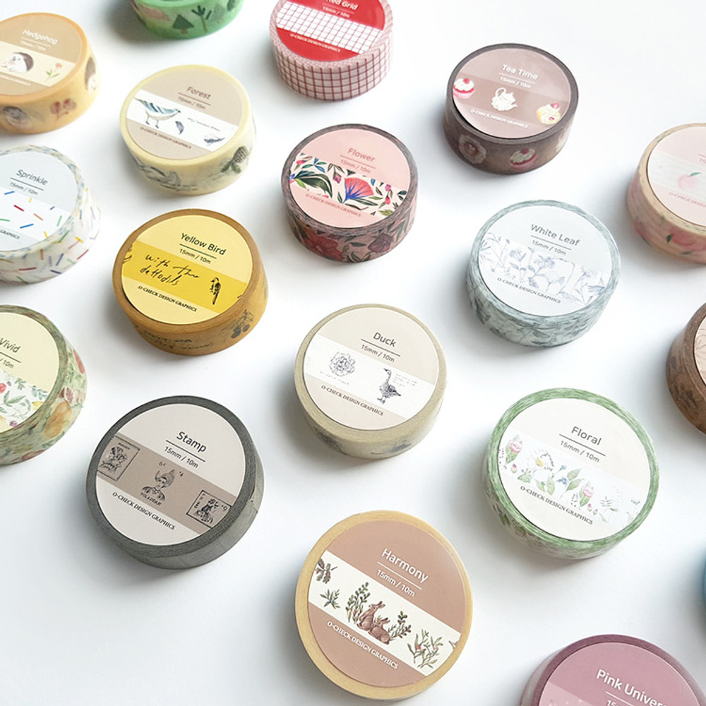 Package - O-CHECK Vintage decorative craft 15mm X 10m masking tape