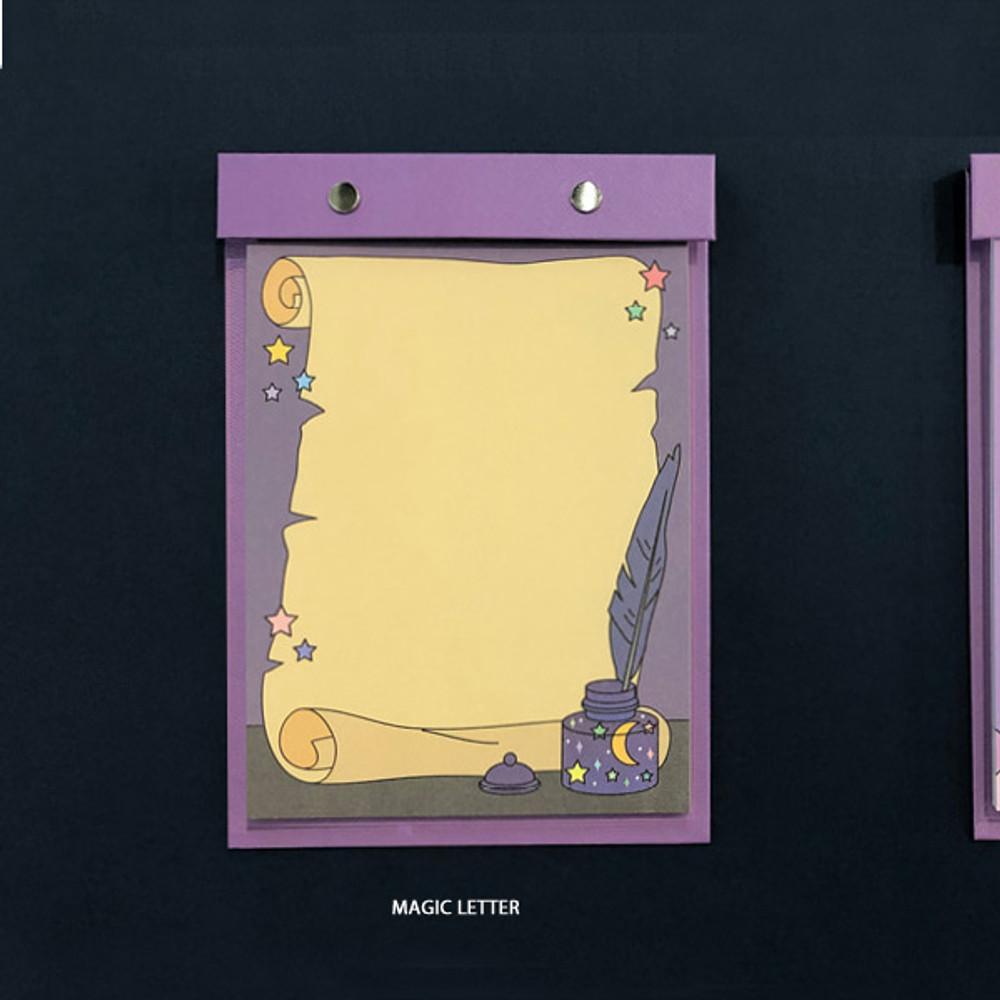 Magic Letter - Ardium Color point A5 snap memo quadrille notepad