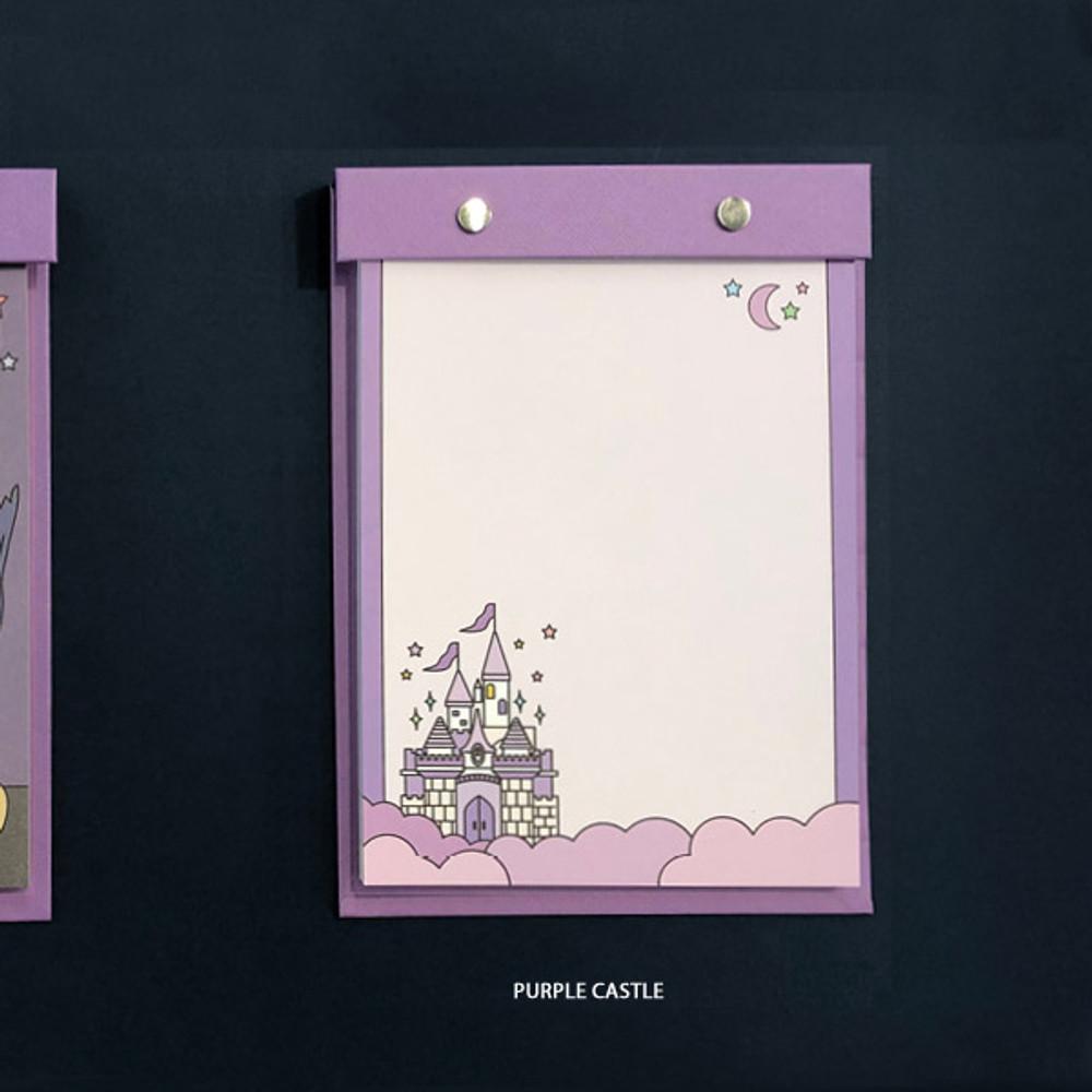 Purple castle - Ardium Color point A5 snap memo quadrille notepad