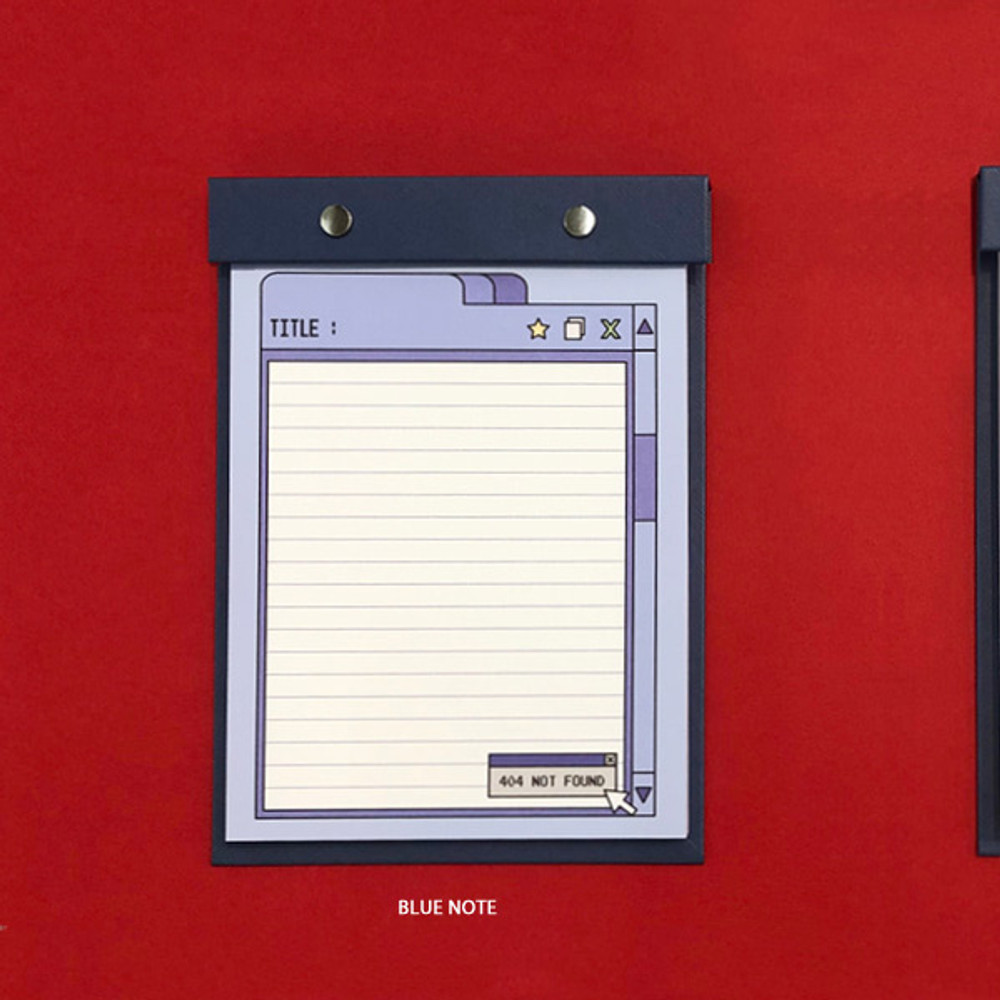 Blue Note - Ardium Color point A5 snap memo quadrille notepad