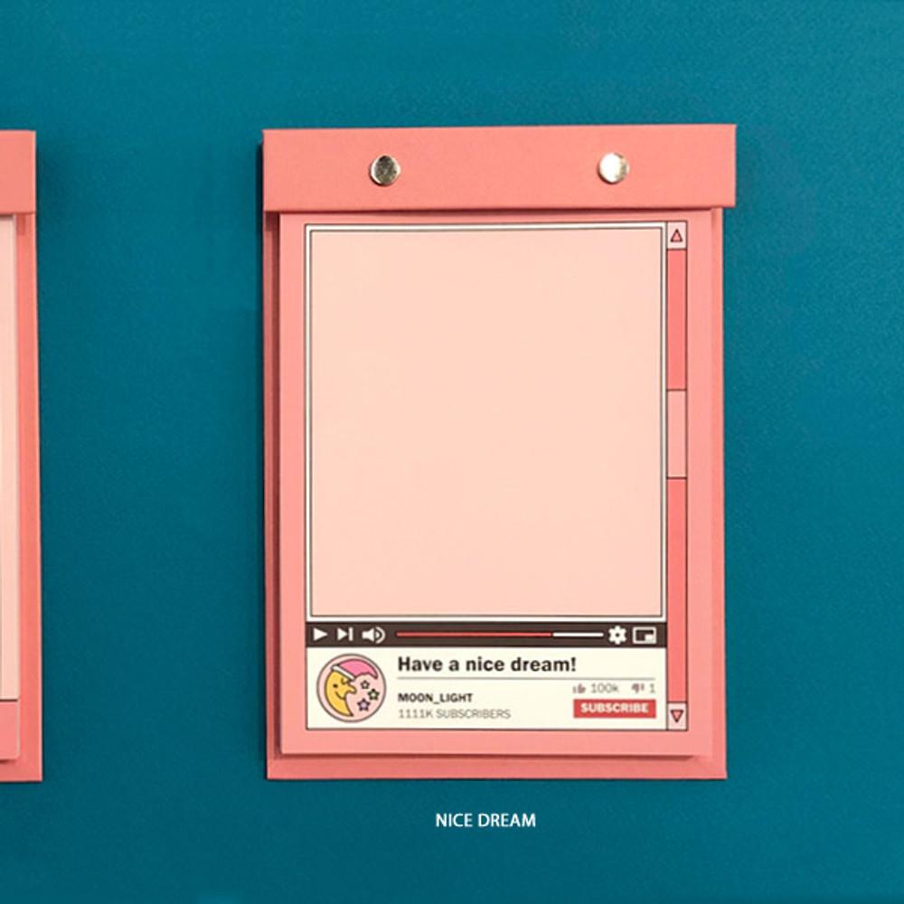 Nice Dream - Ardium Color point A5 snap memo quadrille notepad