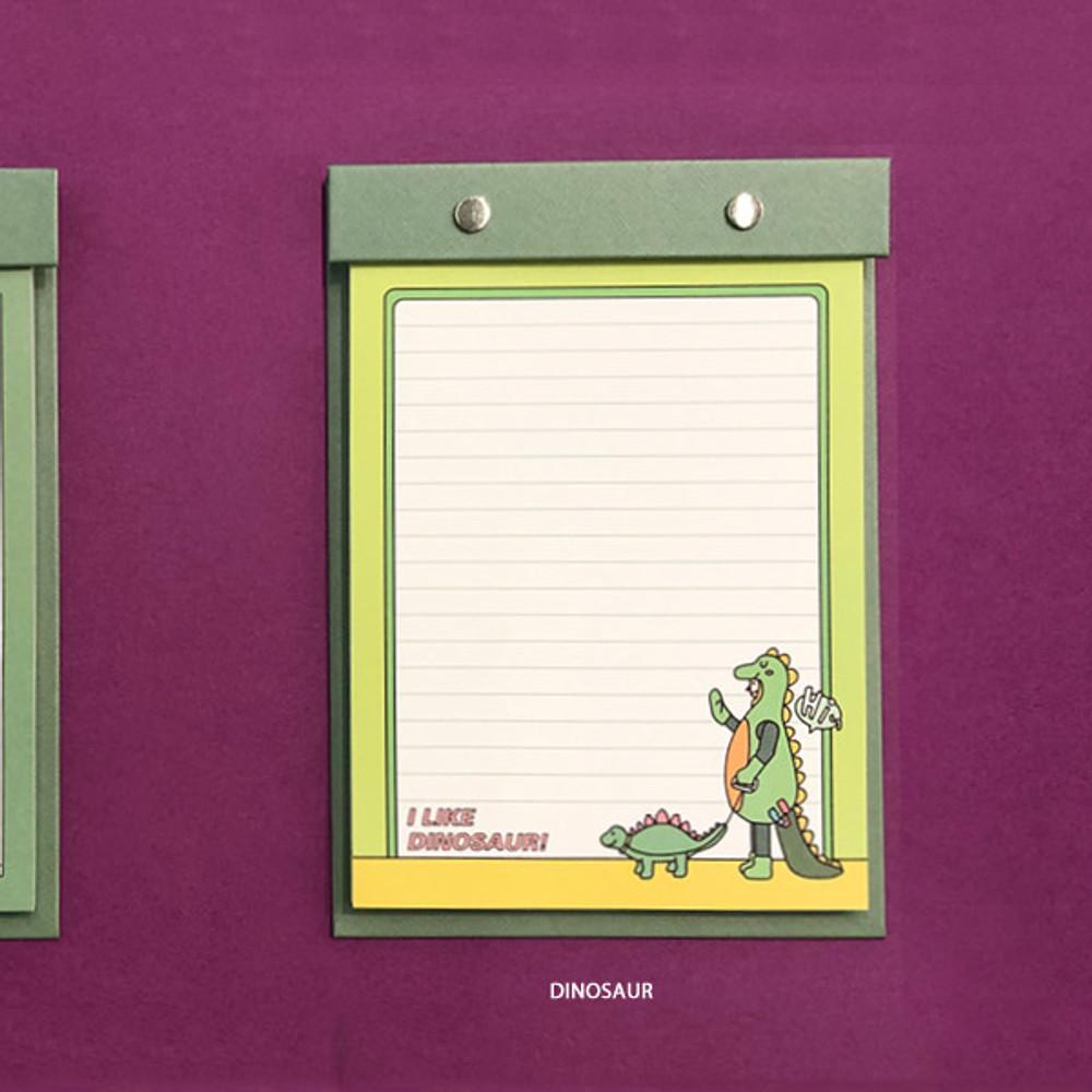 Dinosaur - Ardium Color point A5 snap memo quadrille notepad