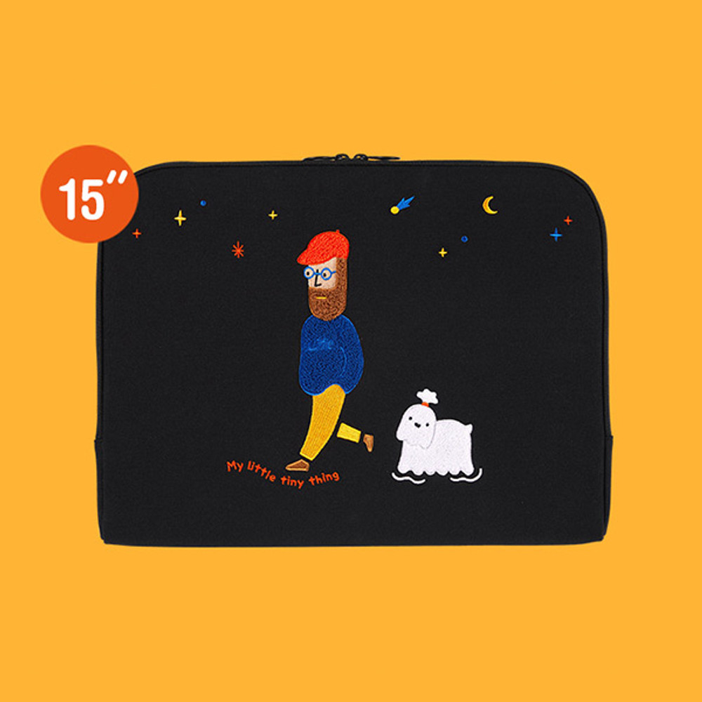 15 inches laptop sleeve - Moonwalker boucle canvas iPad laptop sleeve pouch case