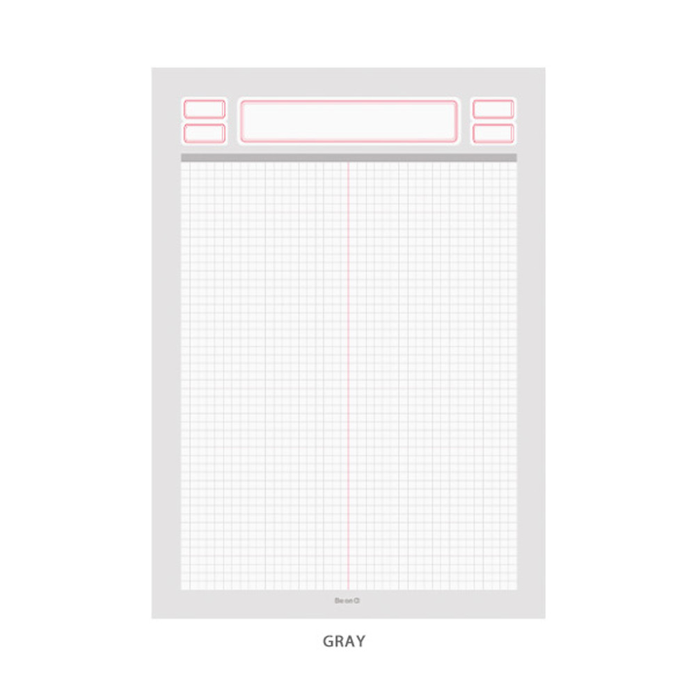 Gray - After The Rain Label B5 size grid notes memo notepad