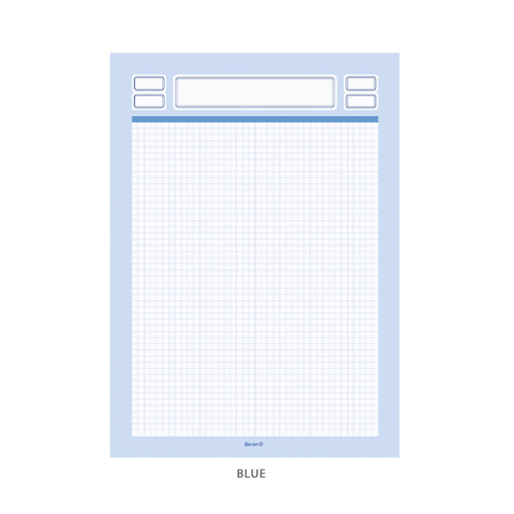 Blue - After The Rain Label B5 size grid notes memo notepad