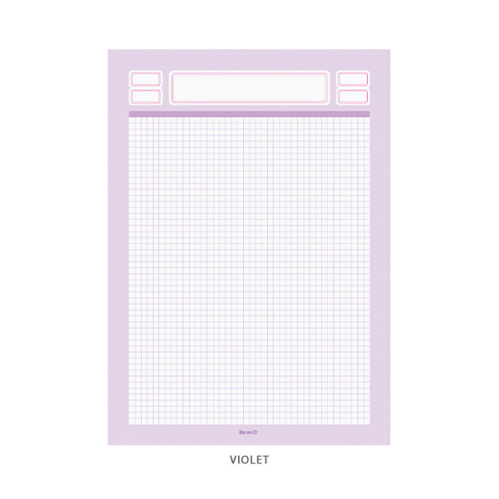 Violet - After The Rain Label B5 size grid notes memo notepad