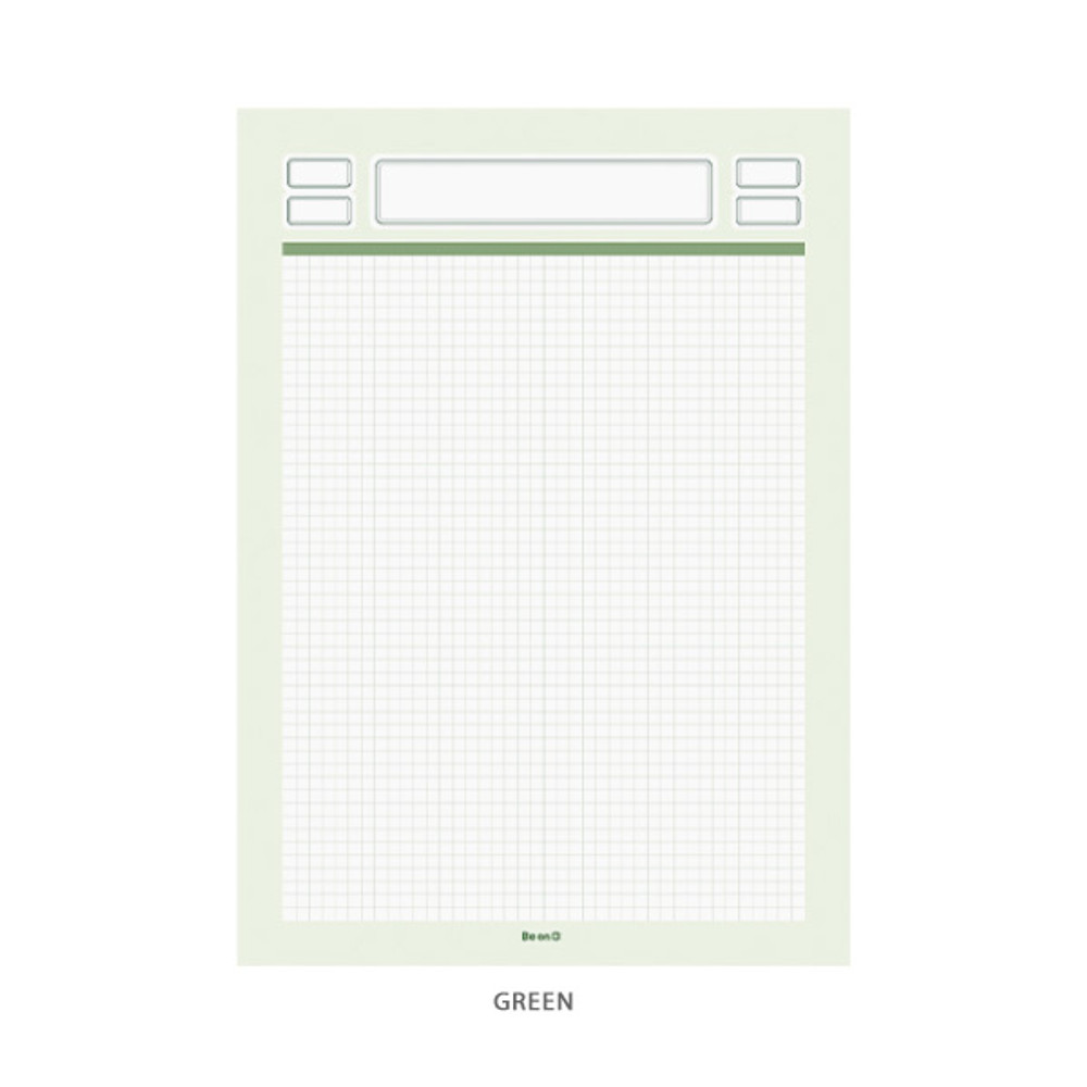 Green - After The Rain Label B5 size grid notes memo notepad