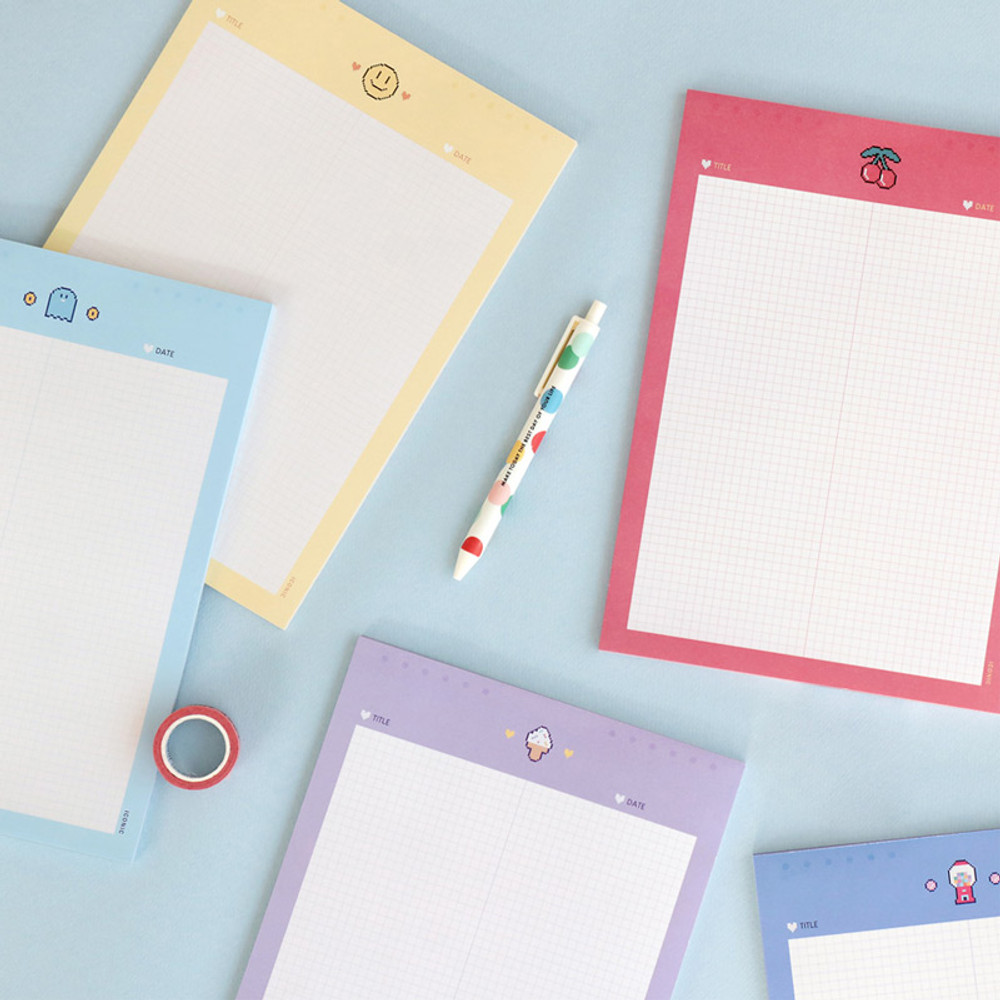 ICONIC Sweet B5 size grid notes memo notepad