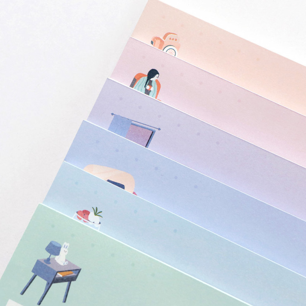 Cute illustration - ICONIC Haru B5 size grid notes memo notepad