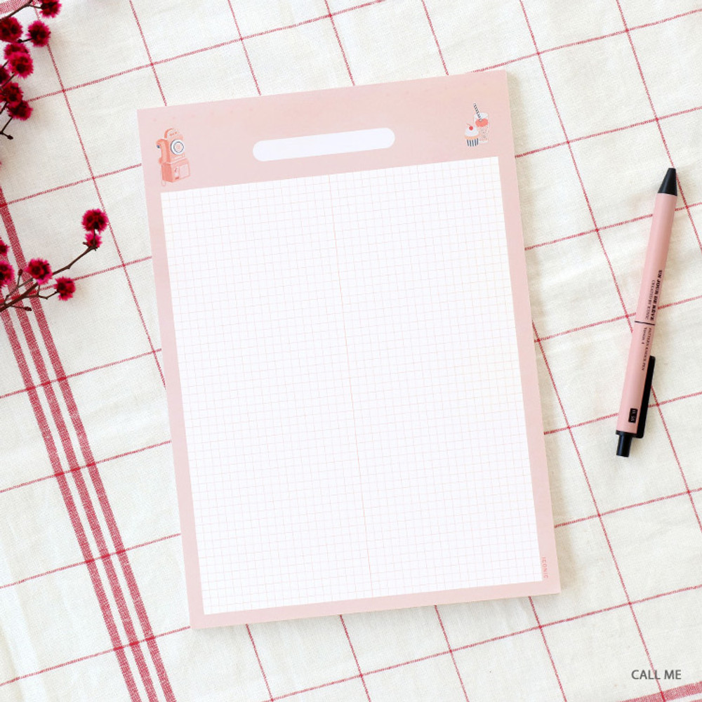Call me - ICONIC Haru B5 size grid notes memo notepad