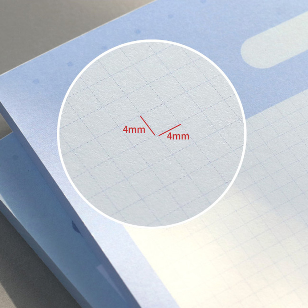 4mm graph paper - ICONIC Buddy B5 size grid notes memo notepad