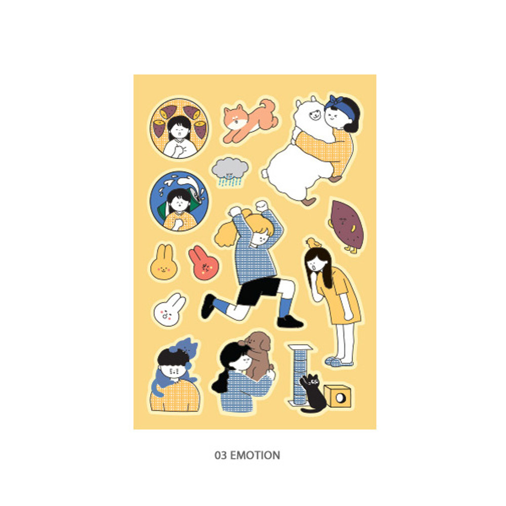 03 Emotion - ICONIC Haru removable craft decoration sticker