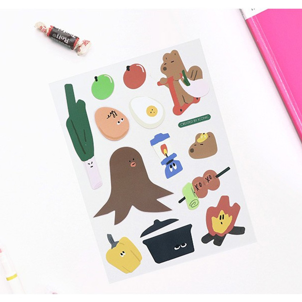 D - ICONIC Big point removable craft decoration sticker