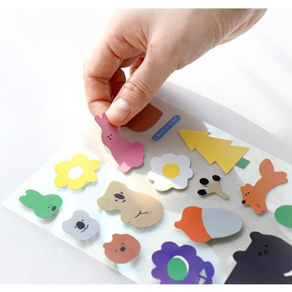 E - ICONIC Big point removable craft decoration sticker
