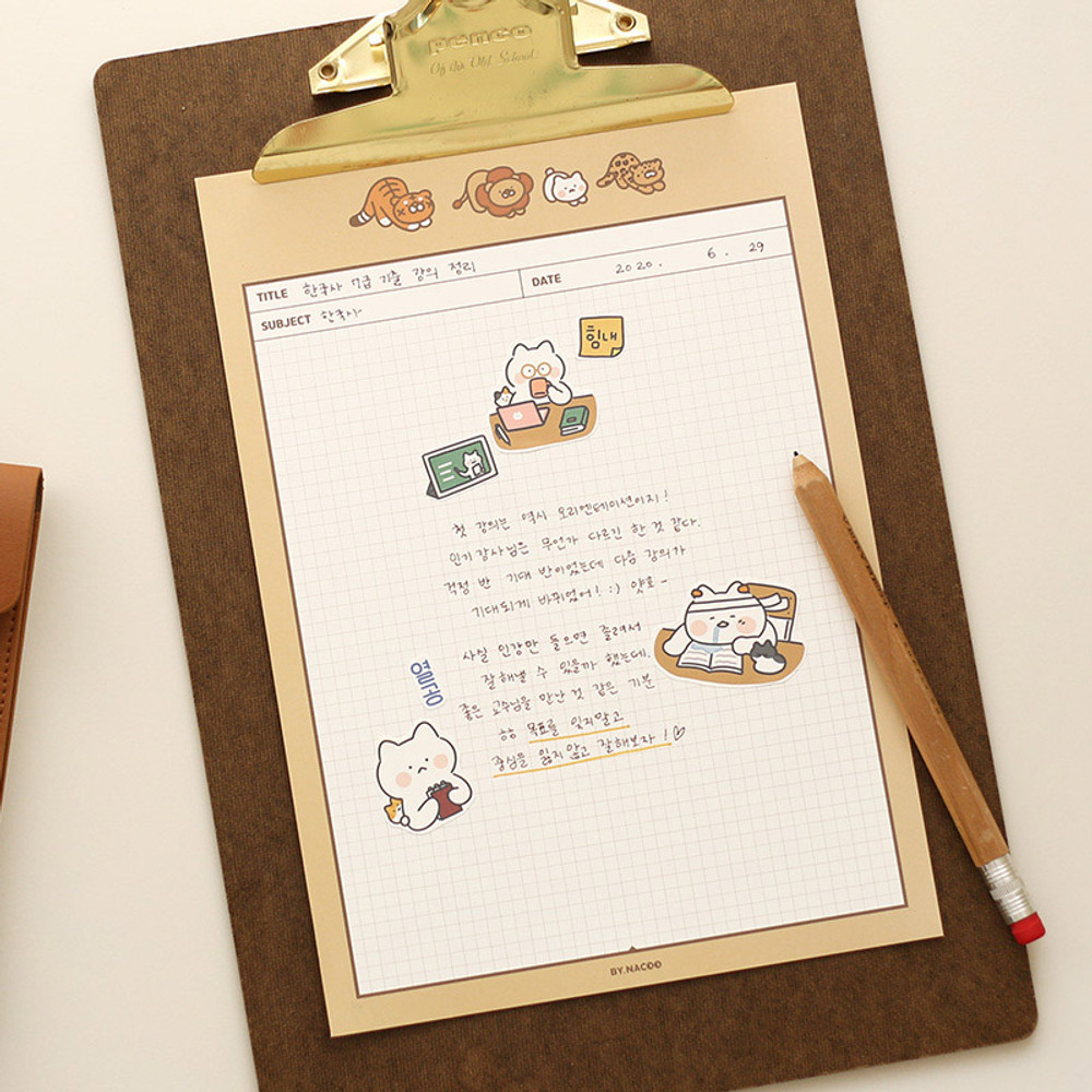 Stretch - Annyang B5 size lined and grid notes memo notepad