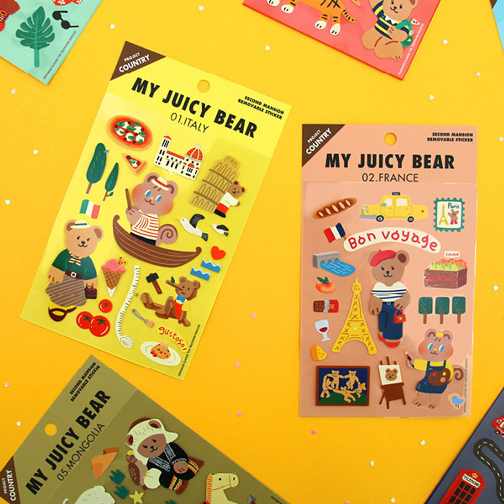 Usage example - Project country my juicy bear removable sticker