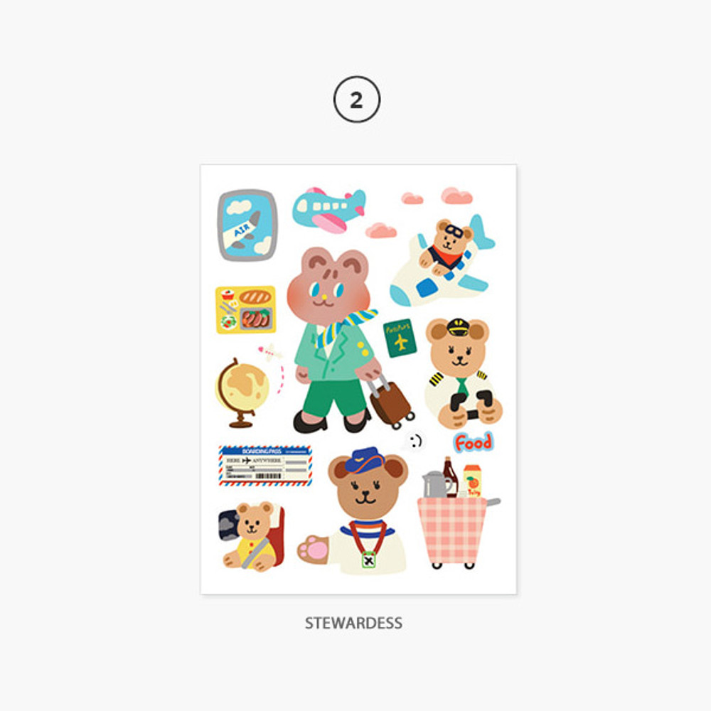 02 Stewardess - Project job my juicy bear removable sticker