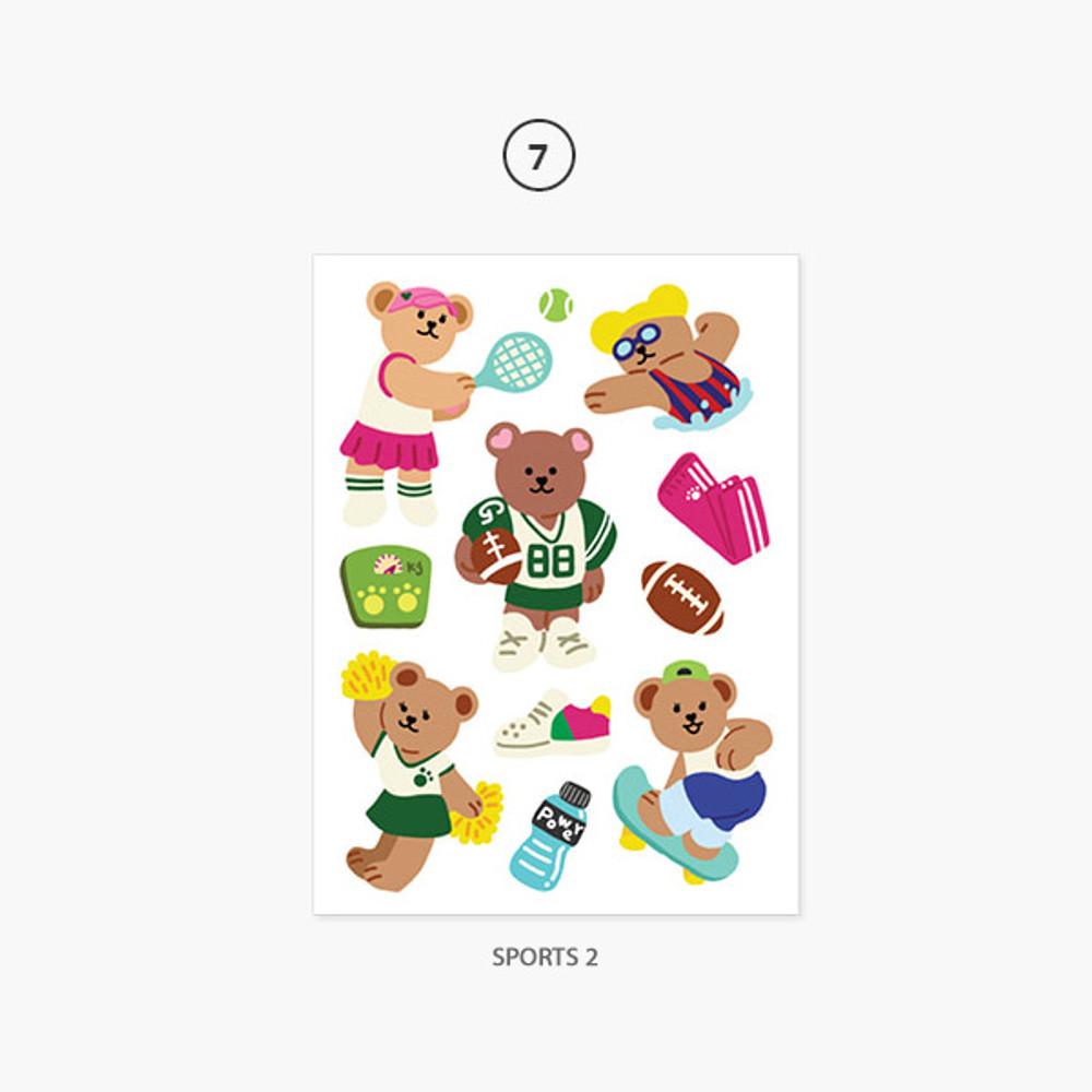 07 Sports 2 - Project job my juicy bear removable sticker