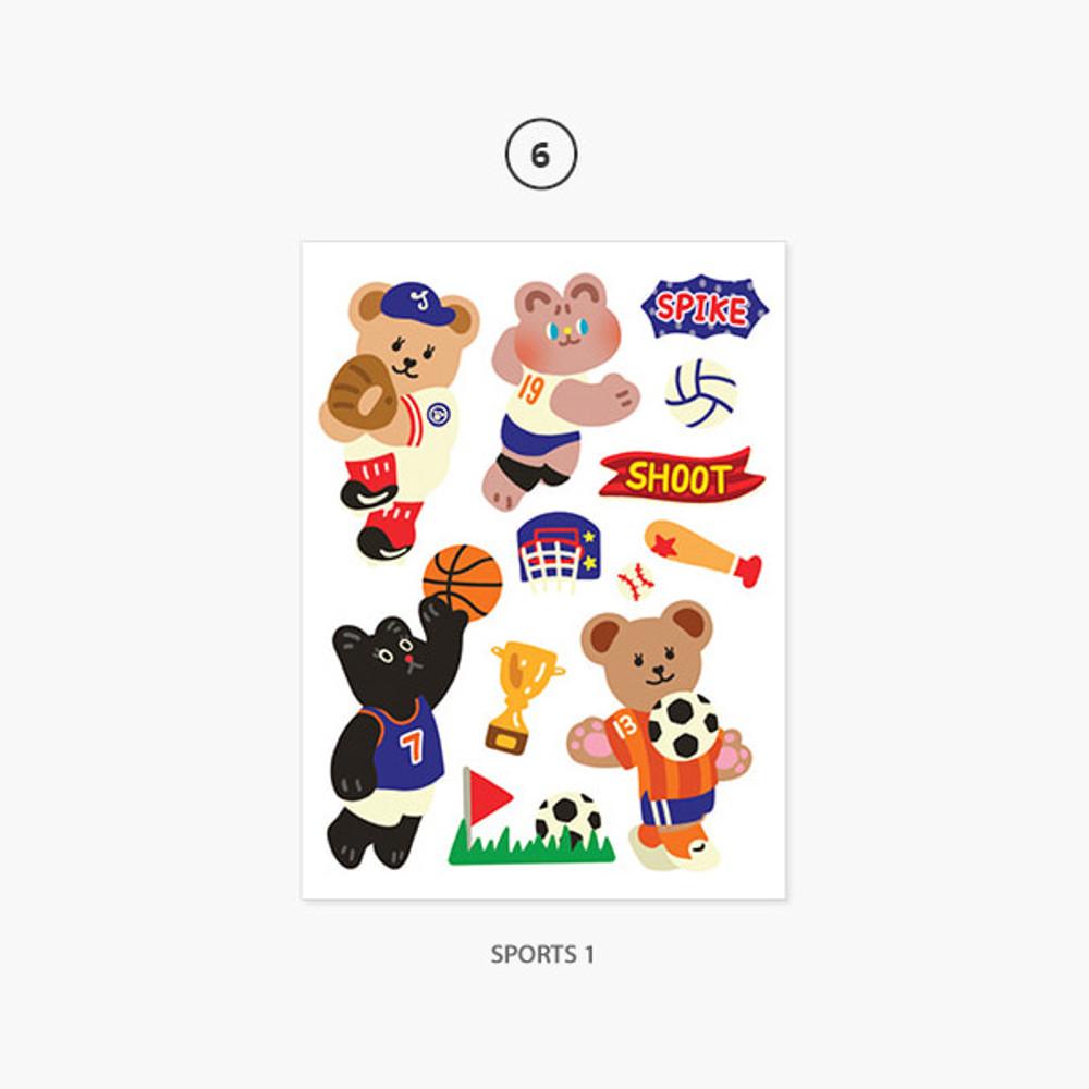 06 Sports 1 - Project job my juicy bear removable sticker