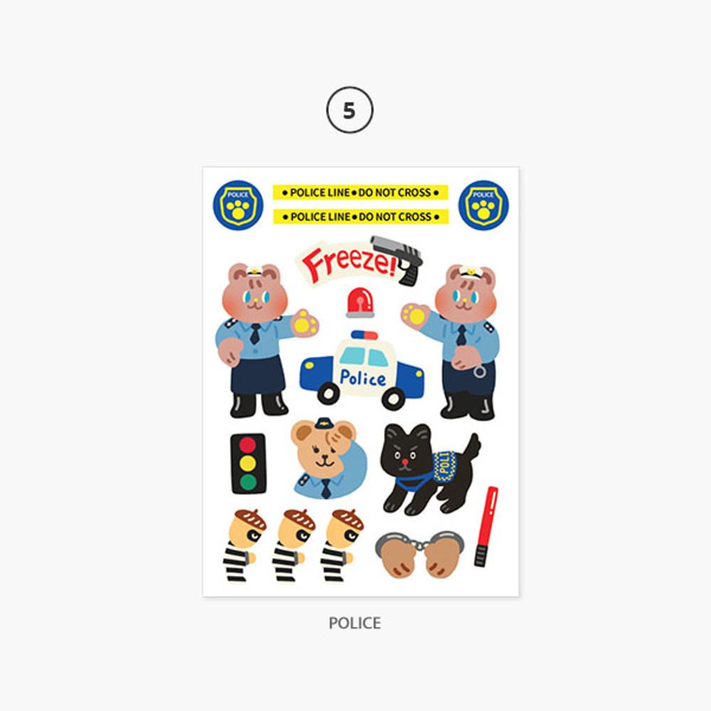 05 Police - Project job my juicy bear removable sticker