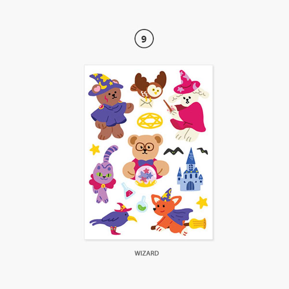 09 Wizard - Project job my juicy bear removable sticker