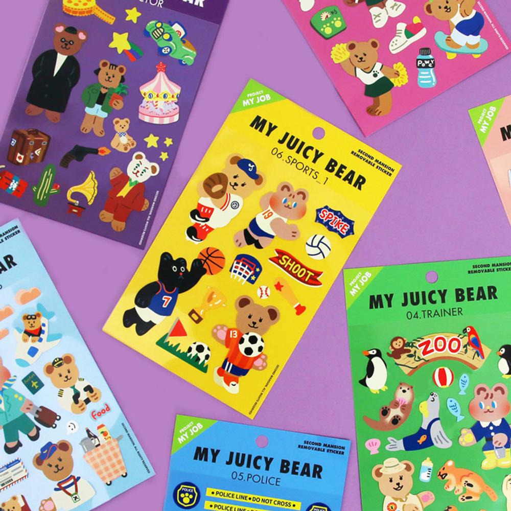 Project job my juicy bear removable sticker
