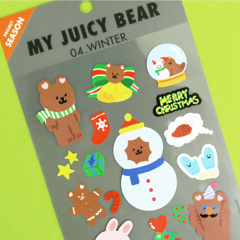 Usage example - Project season my juicy bear removable sticker