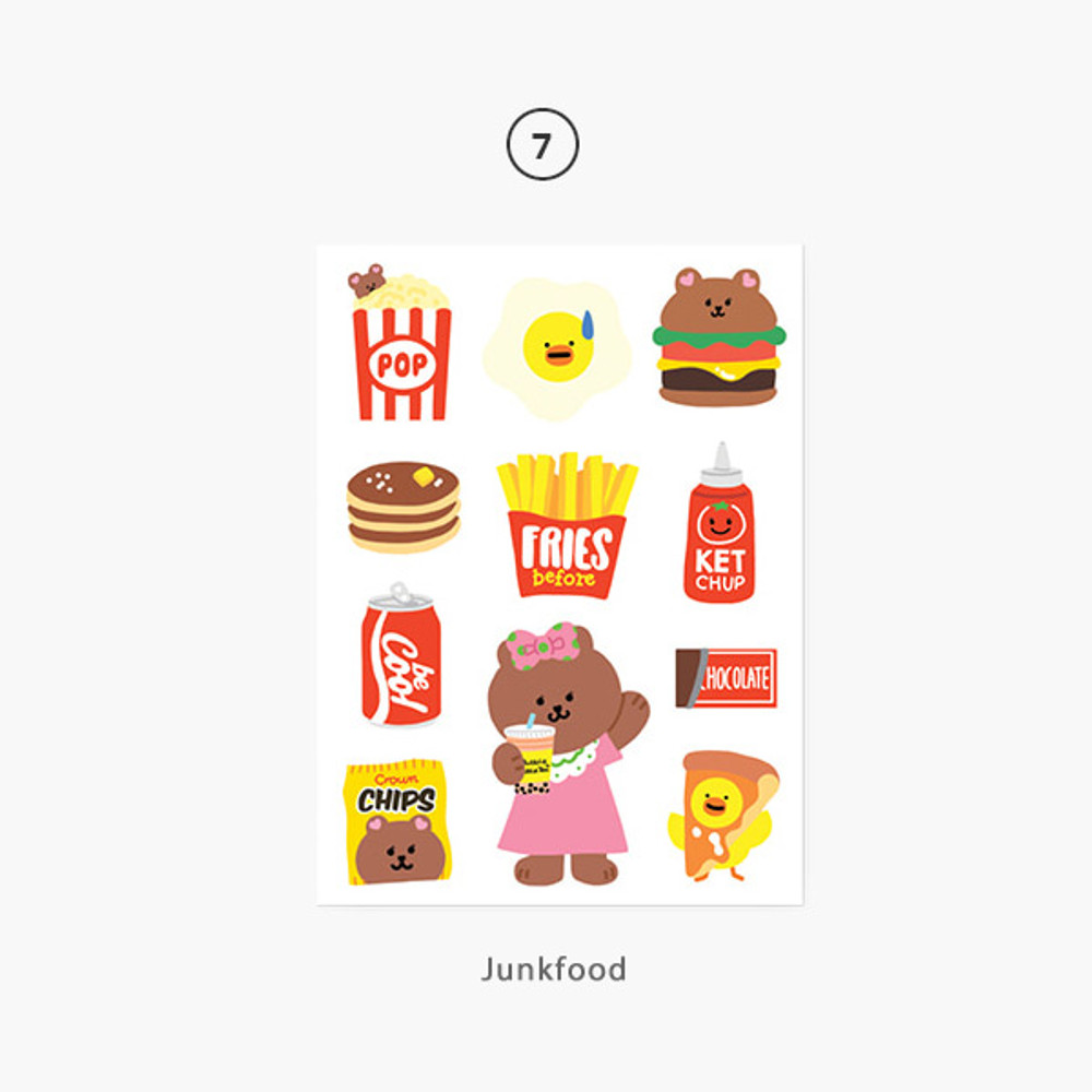07 Junkfood - Project basic my juicy bear removable sticker