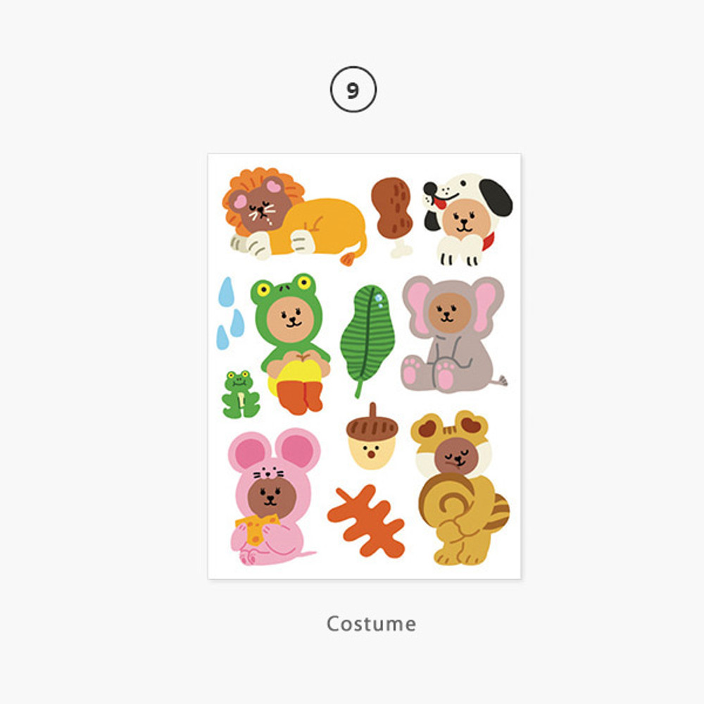 09 Costume - Project daily life my juicy bear removable sticker