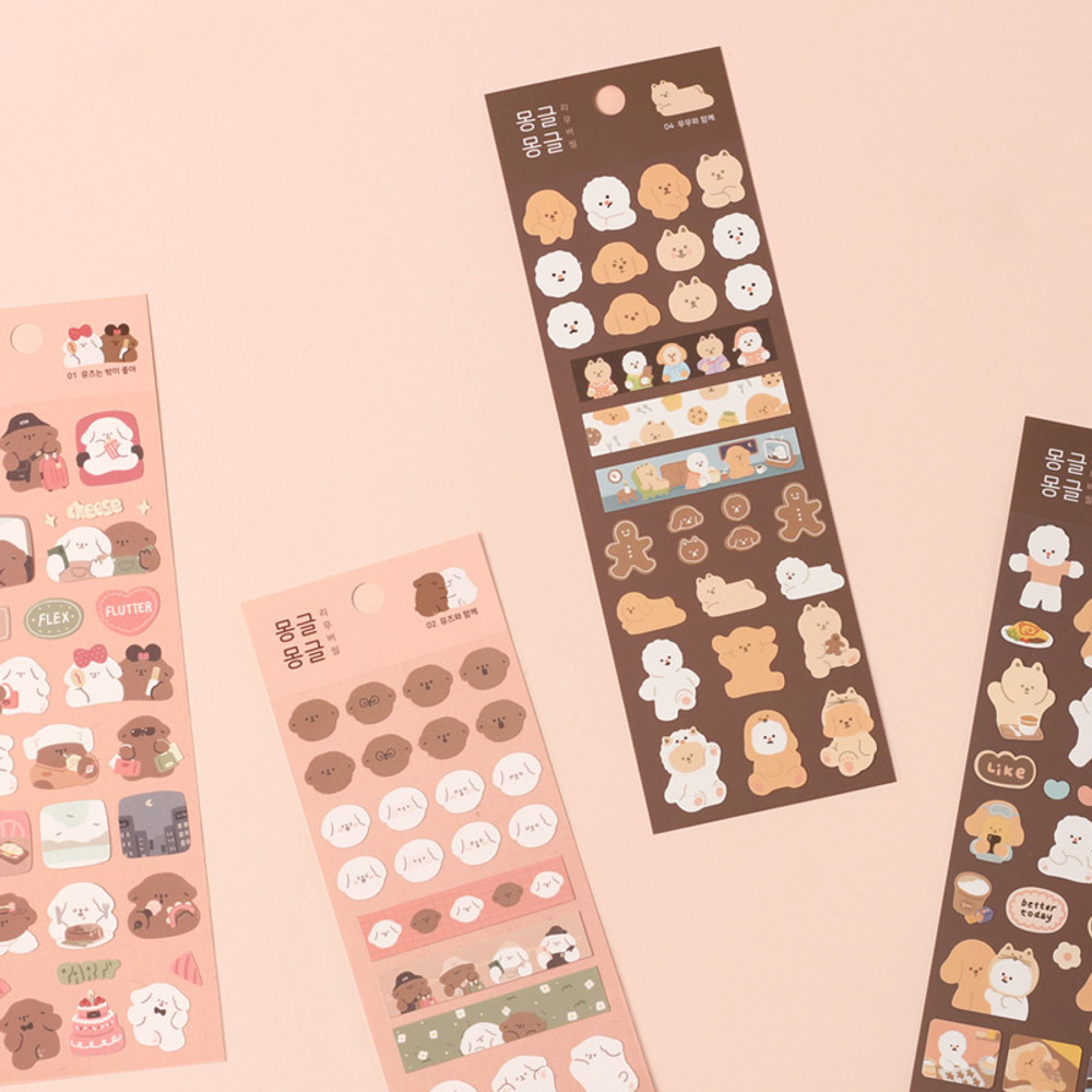 Dash And Dot Mongle Mongle removable sticker seal