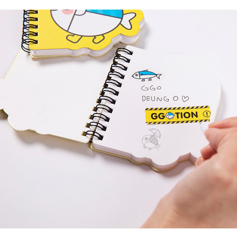 Usage example - DESIGN IVY Ggo deung o spiral bound blank notepad