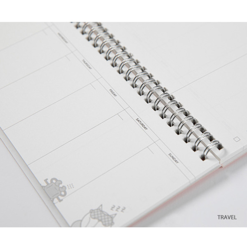 Travel - DESIGN IVY Ggo deung o spiral dateless weekly desk planner