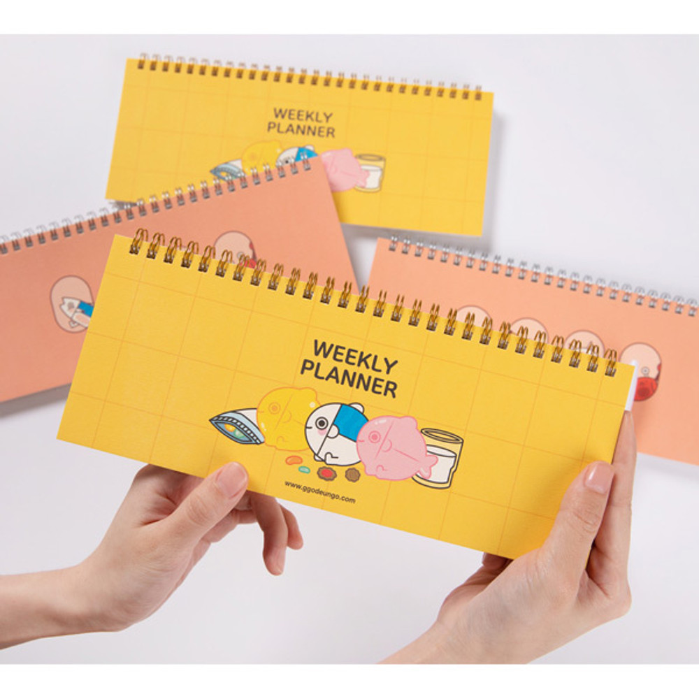 DESIGN IVY Ggo deung o spiral dateless weekly desk planner