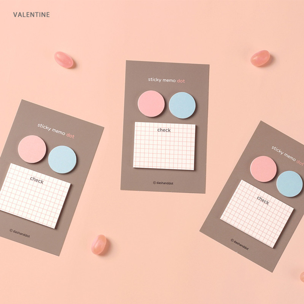 Valentine - Dash and Dot And dots memo notes sticky notepad ver3