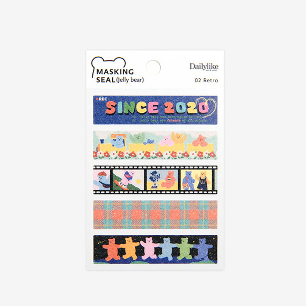 Package - Dailylike Jelly bear retro masking seal sticker set