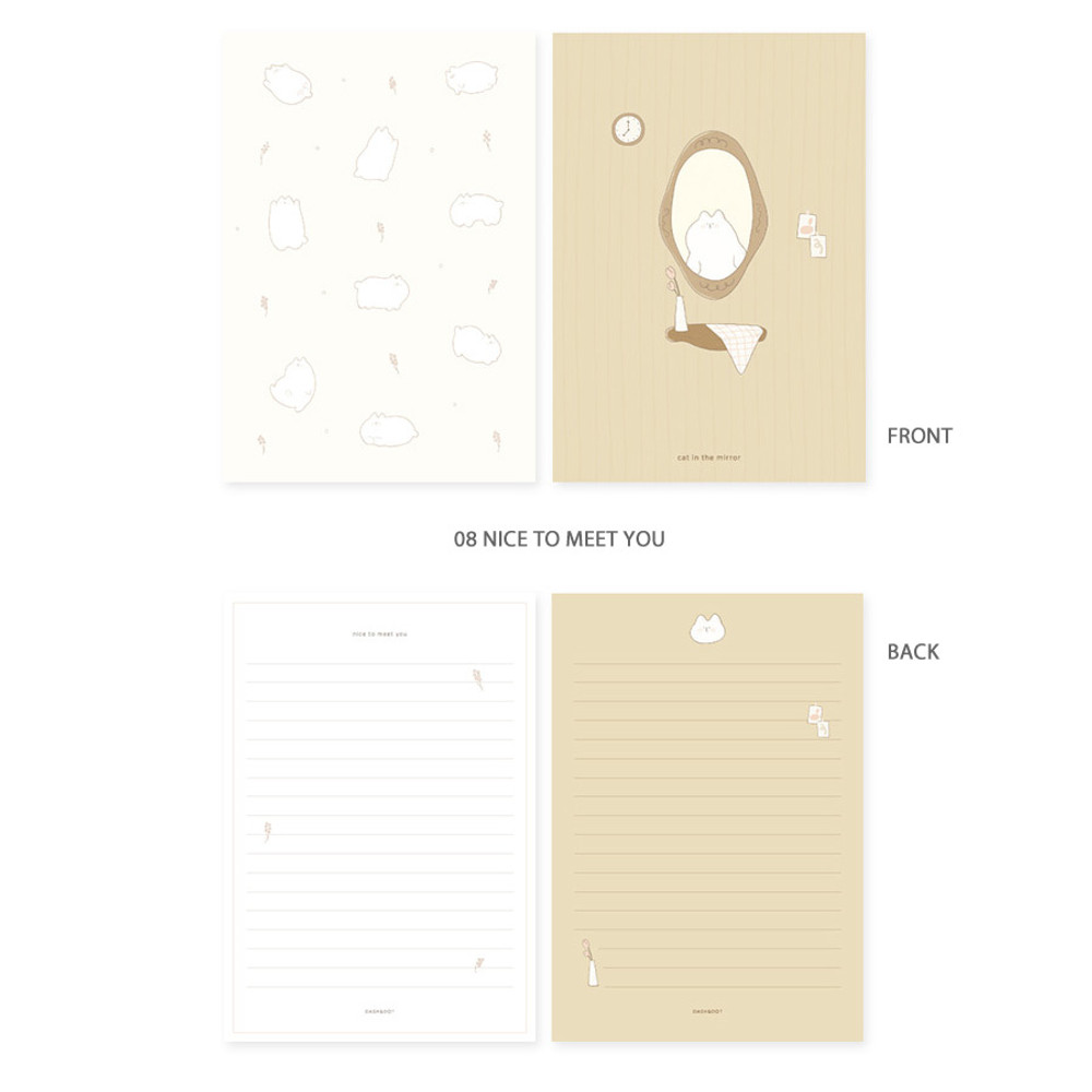 08 nice to meet you - My illustration letter always thank you envelope set ver2