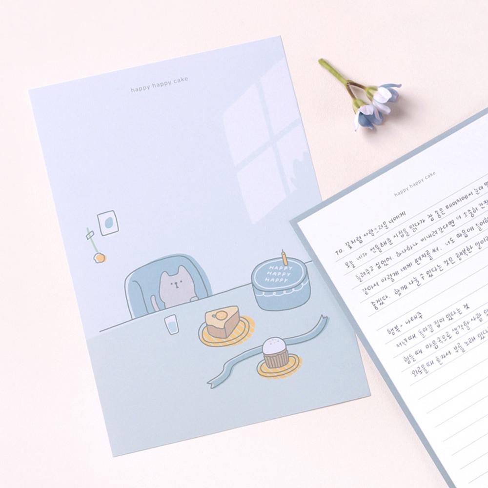 My illustration letter always thank you envelope set ver2