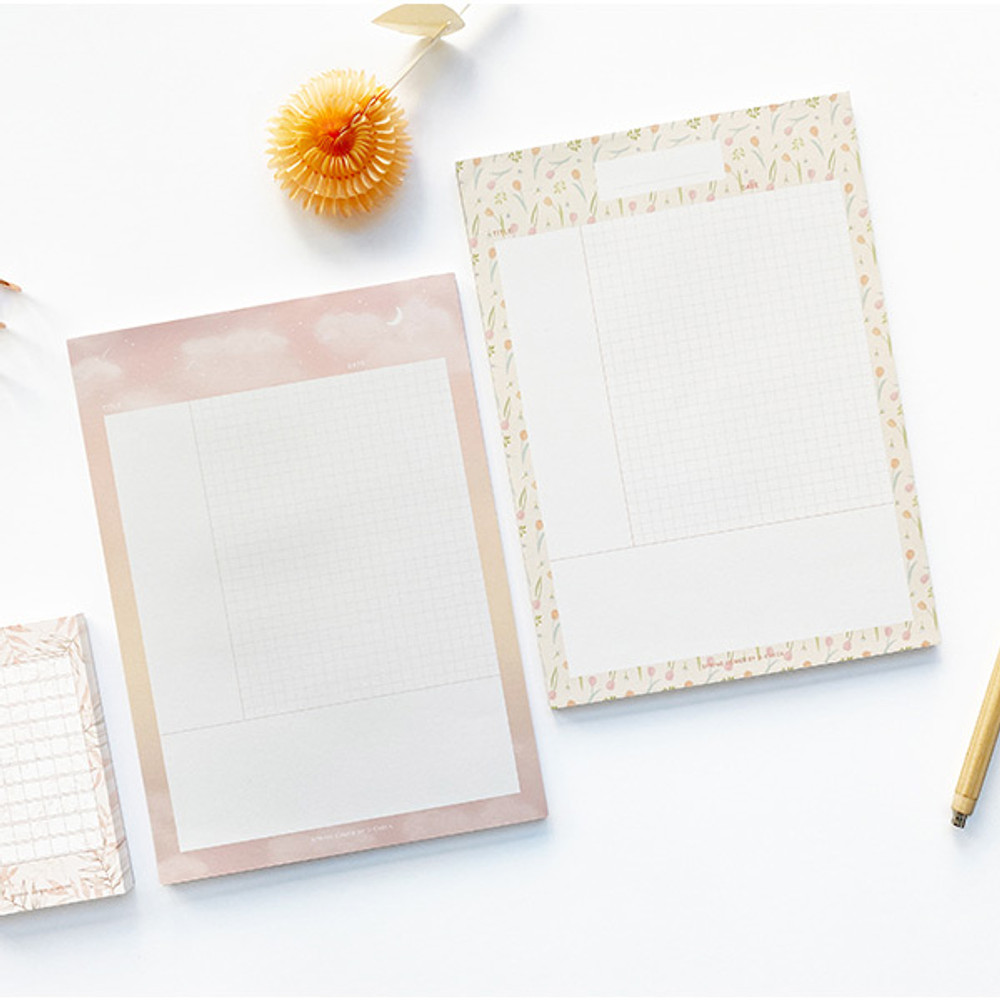 O-CHECK Vertical B5 Cornell study notes grid notepad