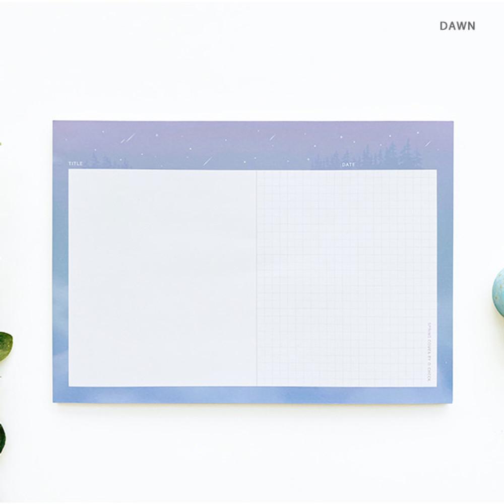Dawn - O-CHECK Horizontal B5 study notes blank and grid notepad