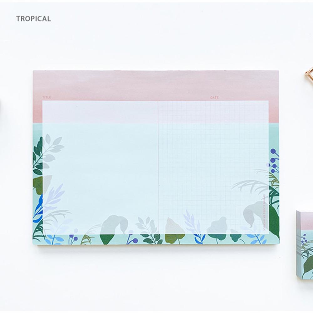 Tropical - O-CHECK Horizontal B5 study notes blank and grid notepad
