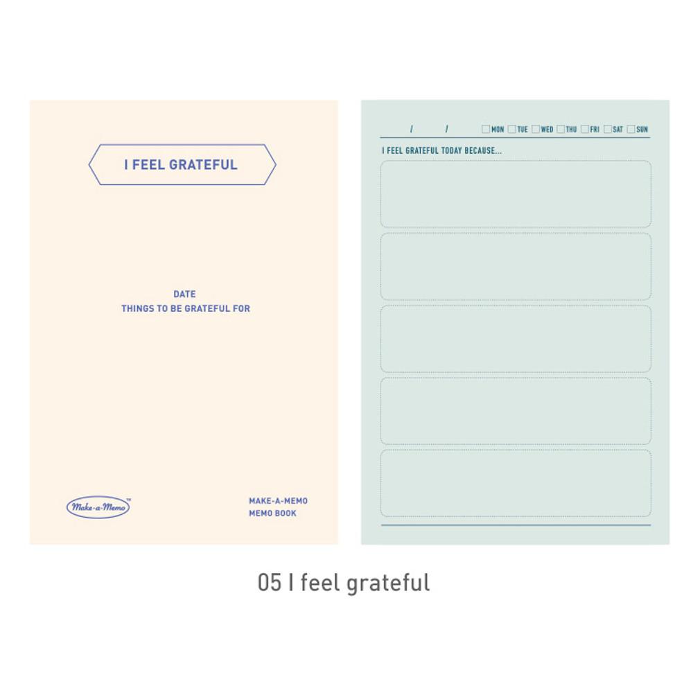 05 I feel grateful - PAPERIAN Make a memo A6 notebook