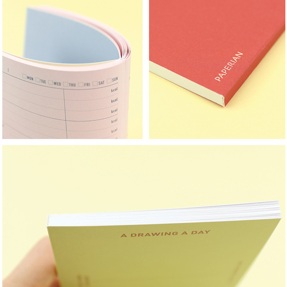 Open flat - PAPERIAN Make a memo A6 notebook