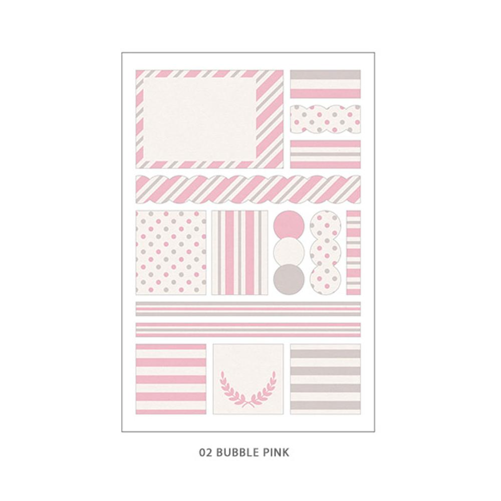 02 Bubble Soda - PLEPLE Pattern paper deco sticker set