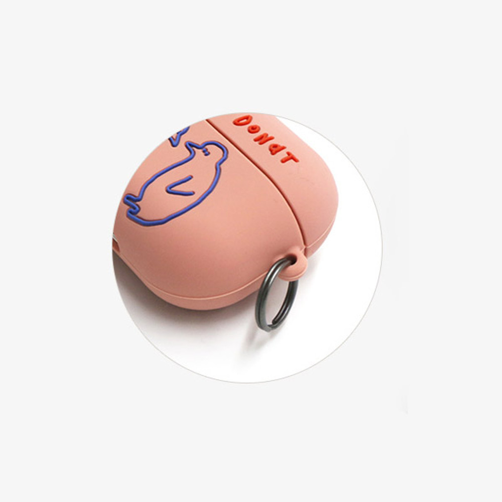comes with a key ring - ROMANE Donat Donat wild AirPods Pro silicone case cover