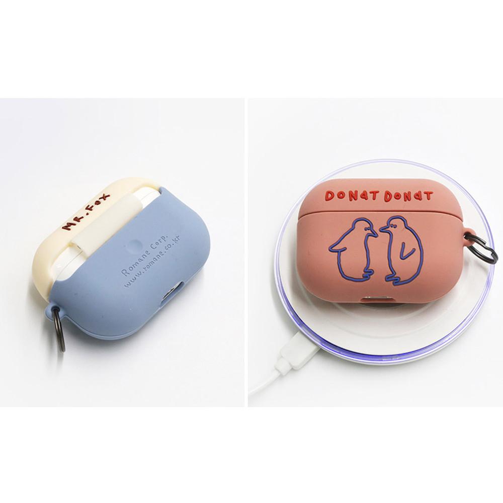 Wireless charging  - ROMANE Donat Donat wild AirPods Pro silicone case cover