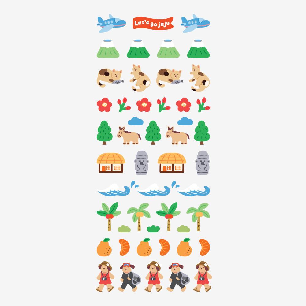 Dailylike Jeju removable paper diary deco sticker seal