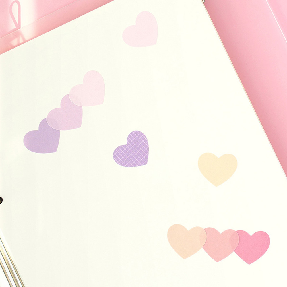 Usage example -PAPERIAN Color palette Heart deco sticker set