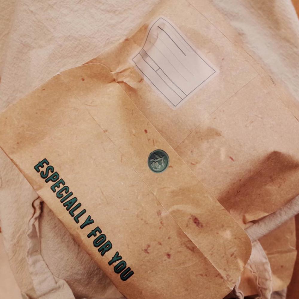 Usage example - Have a nice day vintage paper gift envelope bag set